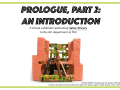 Announcement flyer for Prologue II: An Introduction exhbition