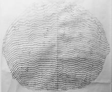an abstract graphite drawing by Eileen Parent titled The Reach